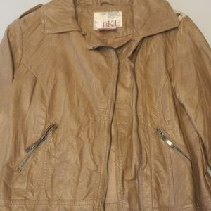 Tan BKE leather jacket size small